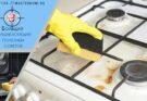 Омываем плиту от жира